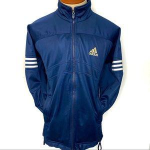 Vintage 90's Adidas Full Zip 3 Stripe Navy Blue Track Jacket Size XL